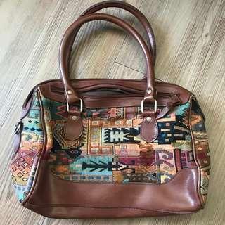 Vintage 1980's Southwestern Handbag 古董復古圖案花 80年代手袋 手拿袋 Woven 懷舊 民族
