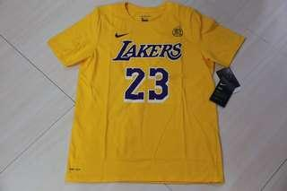 🏀現貨🏀Nike LA Lakers Lebron James Tee US Youth Size 湖人占士美版大童