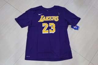 🏀現貨🏀Nike LA Lakers Lebron James Tee US Youth Size湖人占士美版大童tee