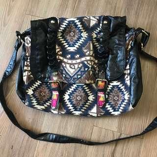 Vintage Pattern Shoulder Bag 復古民族圖案 單肩包 手袋 部落