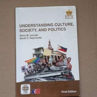 Understanding Culture, Society, And Politics REX Senior High School SHS book Kto12 CORE