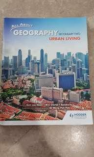 Geography textbook for secondary 2 (urban living)