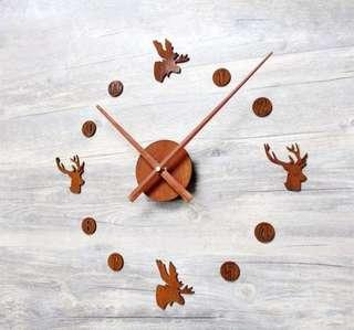 Elk Nordic Wood Wall Clock