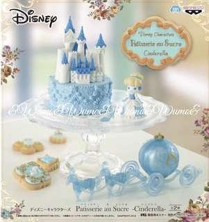 🚚 日空版 全新 迪士尼 官方授權 灰姑娘 城堡 馬車 Patisserie sure Sucre
