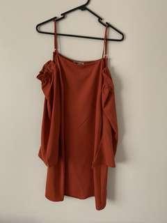 Charlotte Russe Size S(8-10) Orange Dress