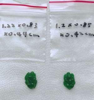 🚚 滿綠翡翠A貨冰種翡翠貔貅