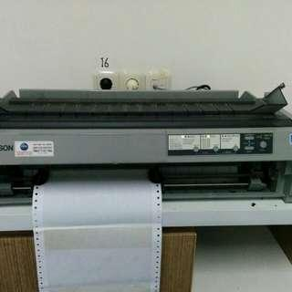 Printer Epson LQ-2190 Dot Matrix Hitam Putih