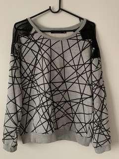 Glassine Size M Grey Sweat Top