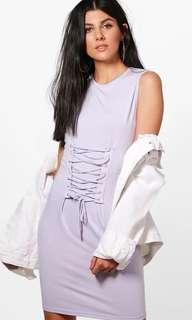 💖Boohoo Size 10 Purple Corset Dress