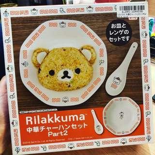 Toreba 日本景品 鬆弛熊 餐具套裝