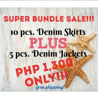 DENIM JACKET x SKIRT BUNDLE ✨🎊🎉