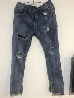 降價!!破壞牛仔長褲!!