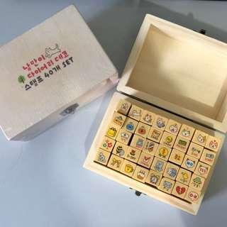 Cute Wooden rubber stamps