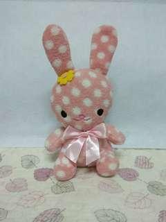 🚚 粉紅點點兔布偶
