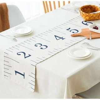 Creative Soft Ruler Pattern Table Runner, 創意軟尺圖裝飾枱布帶