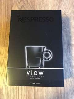 Nespresso 2 View Lungo Cups and 2 Saucers