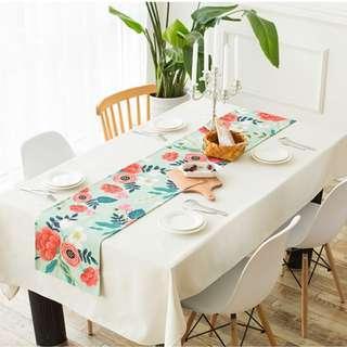 Flower Garden Table Runner, 花花庭園圖裝飾枱布帶