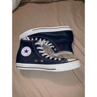Blue leather high top Connie's