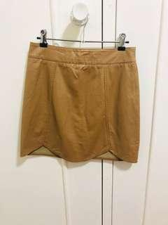 """Tan """"Junk"""" high waisted skirt excellent condition"""