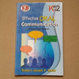 Effective ORAL Communication Senior High School SHS book FNB Educational, Inc. Kto12