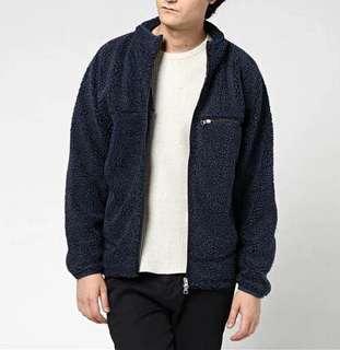 🚚 Right-on 日本品牌 毛絨外套 刷毛外套  黑色 L號