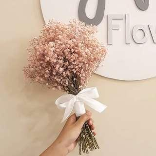 Bridal Pink Baby Breath Bouquet Buket Pernikahan gypsophila merah muda lembut