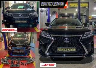 Lexus RX 270 / 350 / 450H 2009-2014 F-sport facelift with sequential turning light