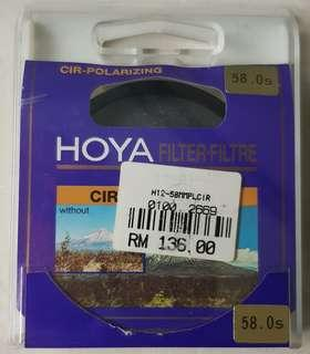 Hoya 58mm Polarized Filter