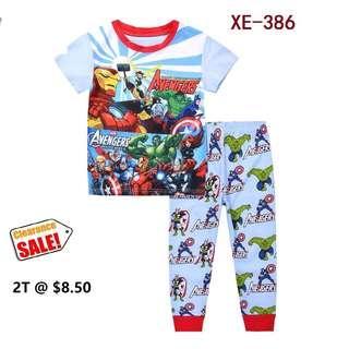 Clearance----Marvel Avengers Assemble Short Sleeve Pyjamas  for  2T
