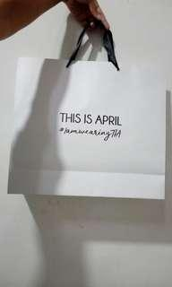 THIS IS APRIL paper bag