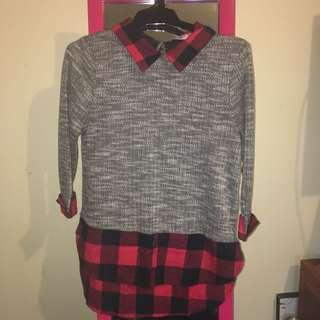 Flannel Patterned Mid-sleeve