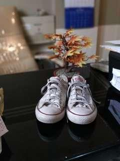 Converse ox white low