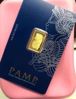 True ❤️: PAMP: 999 Gold, 2.5g per gold bar 💙🧡💛💚