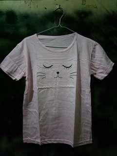Tumblr Tee Cat Pink