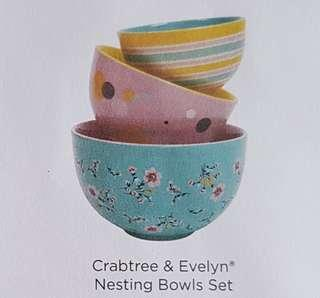 Crabtree and Evening Nesting bowl