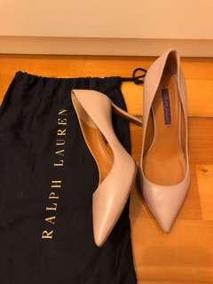 Ralph Lauren leather heels light pink size 36.5