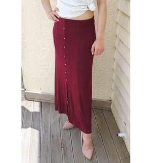 Vintage Maroon Skirt
