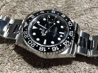全新 勞力士 Rolex GMT Master II 116710 LN 綠針 Full Set