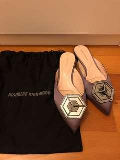 Nicholas Kirkwood shoes satin and sparkle