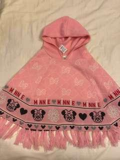 New kid's Disney Minnie Mouse pink cape hooded poncho for sale !!