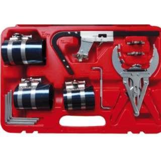 "Piston Ring Service Tool Set Piston Ring Compressor With Ratchet Key 3"" 3.5"" 4"""