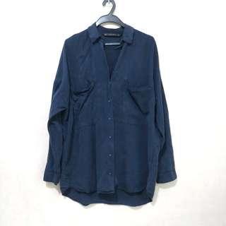 Zara Oversized Buttondown Shirt