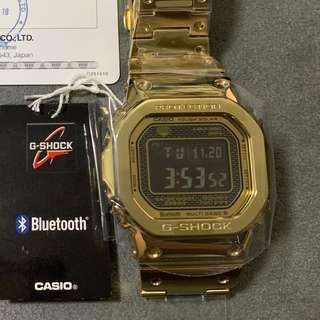 NEW G-Shock Gold Steel Negative Display B-5000