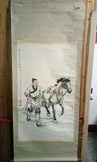 🚚 隋唐黄驃馬水墨畫