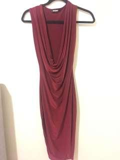 Misguided Red Slinky Dress