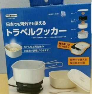 最新版 日本直送 100%new real Yazawa 旅行煱 電爐 空姐煱 旅行鍋 煮食煲 國際電壓 現貨
