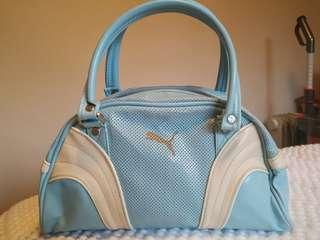 Cute blue & white Puma handbag