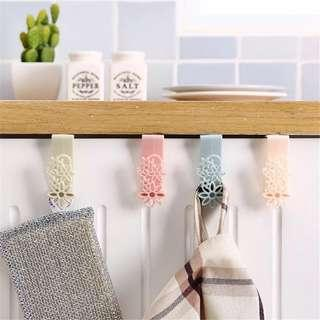 2pcs Space Saver Cabinet Hook for Towel, Plastic Bag