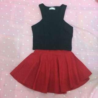 Crop + Rok / Flare Skirt