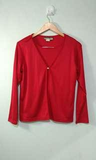 ♥ Red Long Sleeved Blouse